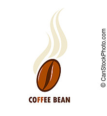 Coffee bean - Aromatic coffee bean. Vector illustration