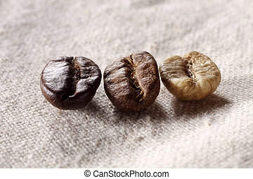 bean bean from green to roasted
