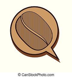 Coffee Bean Circle Speech Bubble