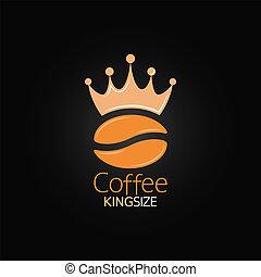 coffee bean crown design menu background