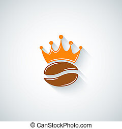 coffee bean crown menu background