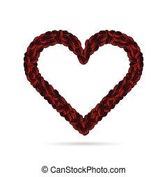 coffee bean heart illustration