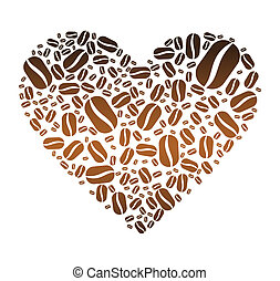 Coffee Bean Heart - One heart made up of coffee beans...
