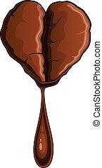Coffee Bean Heart Shaped