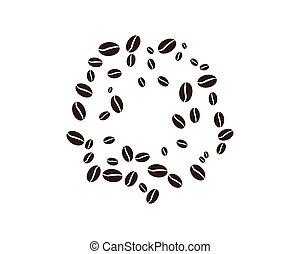 coffee bean icon vector