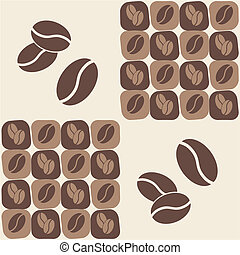 coffee bean - vector illustrations - coffee bean seamless...