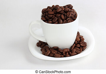 Coffee bean in the cup
