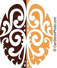coffee-bean-maori-motiff
