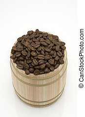 Coffee bean on oak drum