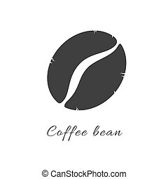 Coffee bean simple flat icon. Vector logo symbol coffee bean...
