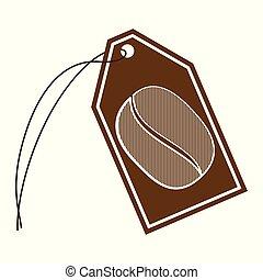 Coffee Bean String Tag