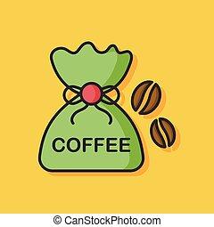 coffee bean vector icon
