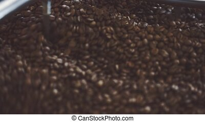Coffee beans after roasting - Fresh roasted coffee beans...