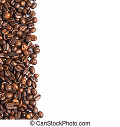 Coffee beans and a copy space.