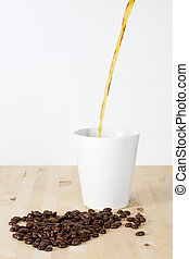 Coffee beans and cup 2