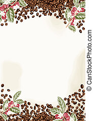 Coffee Beans Background - Scalable vectorial image...