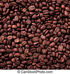 Coffee beans background square format