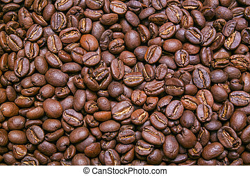 Coffee beans background, texture