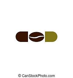 coffee beans capsule vector design template illustration