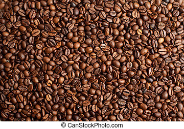 Coffee beans closeup background