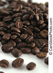 Coffee beans background, shallow DOF.