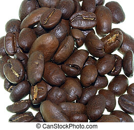 Coffee Beans - coffee beans close up isolated on white