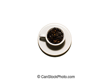 Coffee beans cup