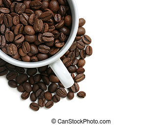 Coffee Beans Cup - Cup full of coffee beans