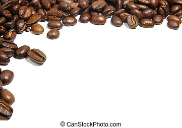 coffee beans frame with copyspace on with background