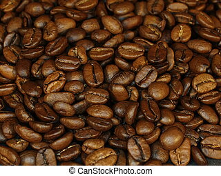 fresh roasted coffee beans, usefull as background