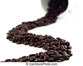 Coffee Beans from a Cup 2