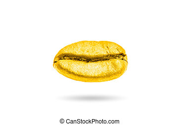 Coffee beans gold