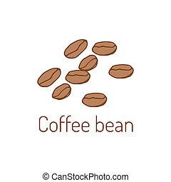 Coffee beans Hand drawn