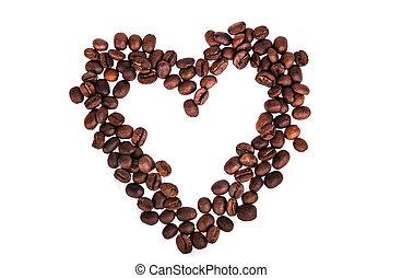 Coffee Beans heart shape
