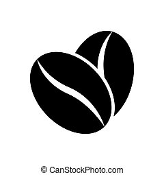 Coffee beans icon vector for graphic design, logo, web site, social media, mobile app, ui illustration
