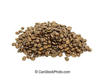 Coffee beans in a heap