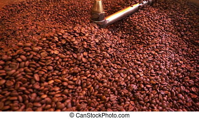 Coffee Beans in Roasted Machine