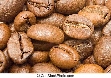 Coffee Beans Macro Background