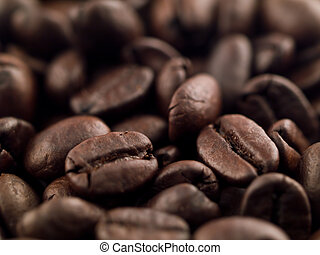 Coffee Beans Narrow DOF 1 - Coffee beans photographed with a...