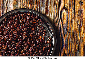 Coffee Beans on Plate.