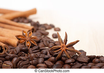 coffee beans on the table