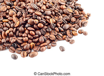 coffee beans on whit