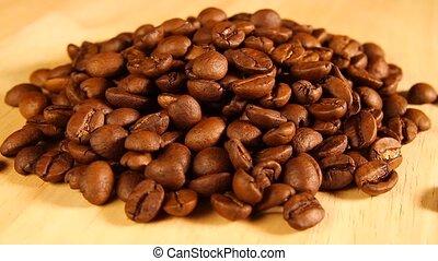 coffee beans rotate