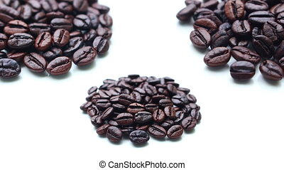 Coffee beans rotation on isolated