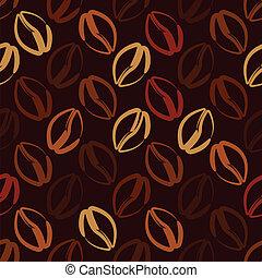 coffee beans seamless pattern - vector illustration
