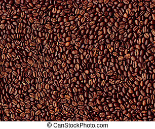 Coffee beans - Background of roasted coffee beans