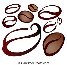 coffee beans - set of coffee beans