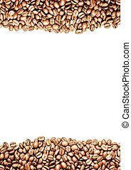 coffee beans with chalkboard background.