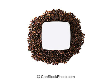 Coffee beans with copy space