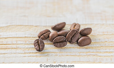 Coffee beans with vintage color effected